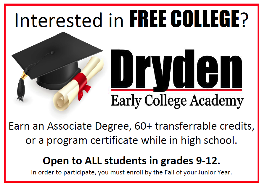 Dryden Early College Academy Now Enrolling