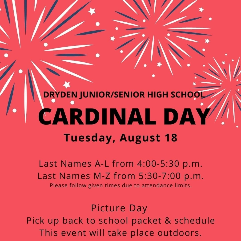 Cardinal Day 2020 Thursday, August 18 4-7 pm