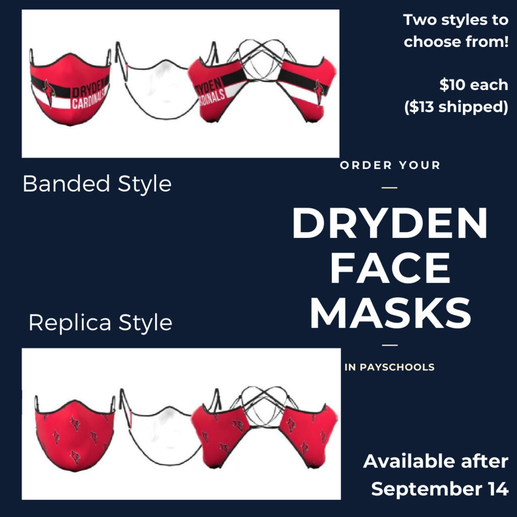 Dryden Face Masks